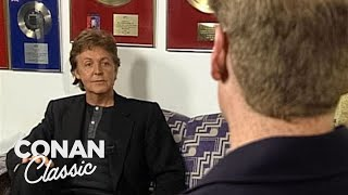 "Conan Visits Sir Paul McCartney In London - ""Late Night With Conan O'Brien"""