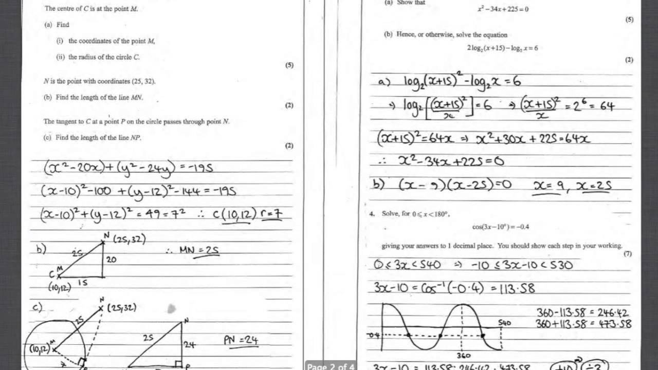 january 2013 core mathematics c2
