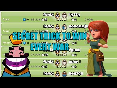 Secret Trick To Win Every War In Coc 😍