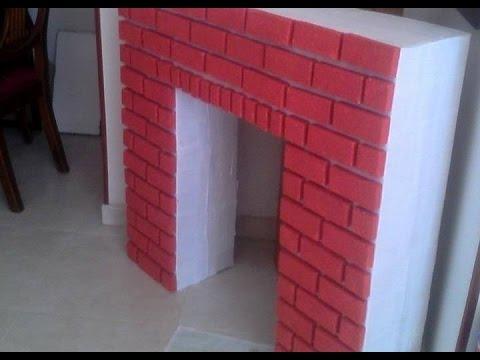 Como hacer chimeneas navide as en icopor youtube - Como construir una chimenea paso a paso ...