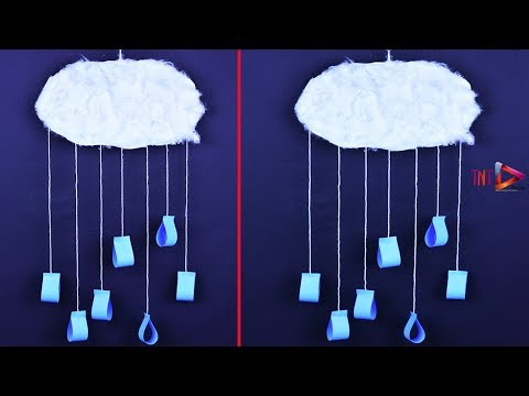 DIY Paper Raining Cloud | How To Make Raindrops With Cloud | Paper Crafts For Kids