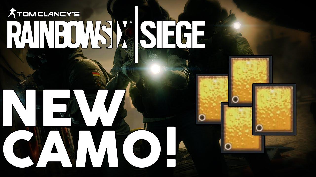 rainbow six siege how to get gold camo