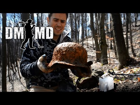 Metal Detecting WW2 German Helmet