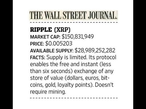 Corda For XRP Settlement And Ripple In Wall Street Journal