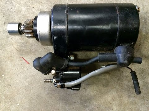 Adding a starter motor to an outboard motor