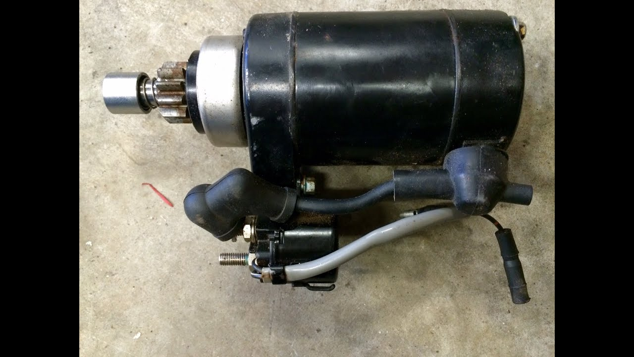 small resolution of adding a starter motor to an outboard motor