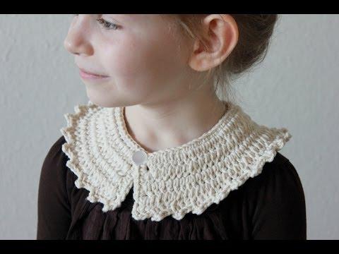 Crochet Peter Pan Collar Tutorial Right Handed Version Youtube