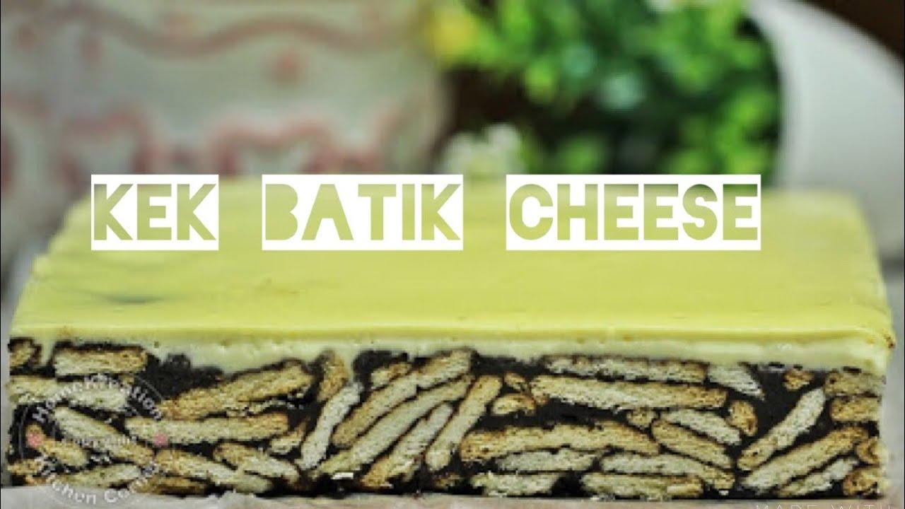 Resepi Kek Batik Cheese Bakar - YouTube
