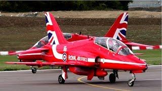 SMOKE BLASTED | RAF Red Arrows Departure | Cambridge Airport