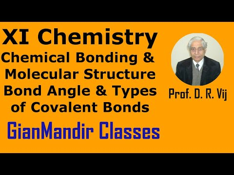 XI Chemistry-Chemical Bonding Molecular Structure-Bond Angle, Types of Covalent Bonds by Ruchi Mam