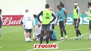 Mbappé a quitté l'entraînement des Bleus mardi - Foot - CM 2018 - Bleus