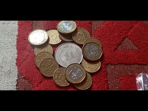 SINGAPORE OLD & RARE COINS $ 1 DOLLAR