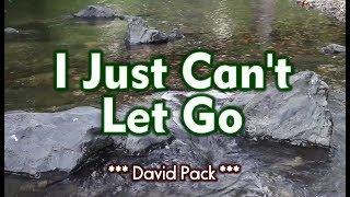 I Just Can't Let Go - David Pack (KARAOKE)