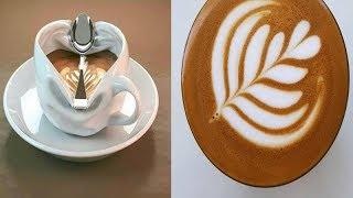 Amazing Cappuccino Latte Art Skills 2018. Рисунки на кофе. Латте арт лучшие. Капучино рисунки
