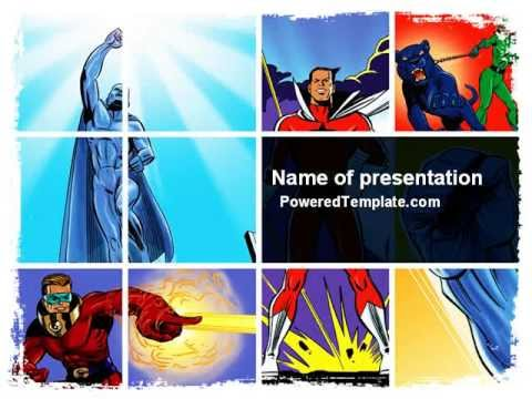 superheroes powerpoint template by poweredtemplate com youtube