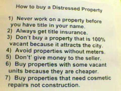 How to buy a distressed property