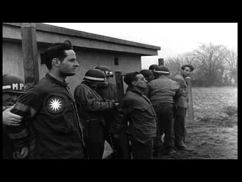 Military police execute German spies in Belgium. HD Stock Footage