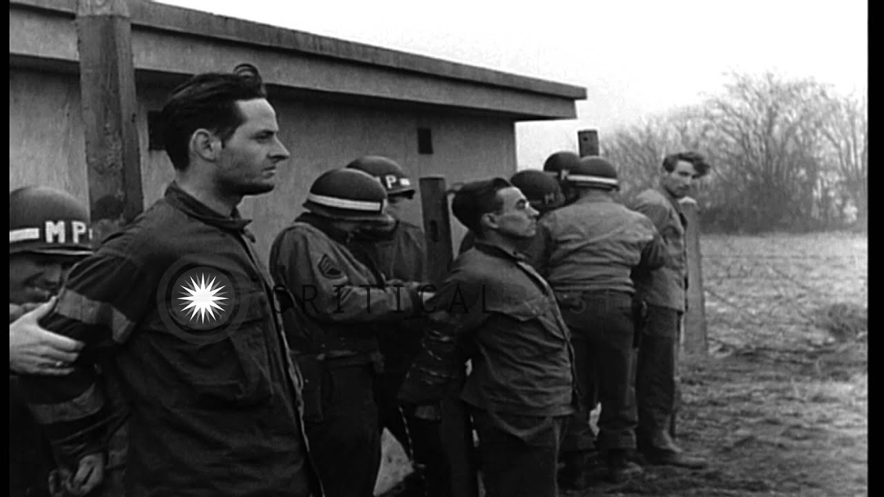Military police execute German spies in Belgium. HD Stock Footage - ViYoutube