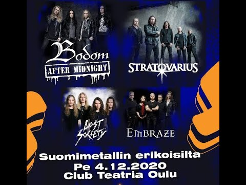 Bodom After Midnight to perform w/ Stratovarius, Lost Society and Embraze