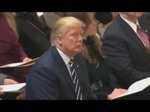 Donald Trump Listening to the Recitation of the Quran
