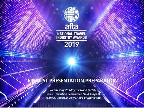 NTIA 2019 Finalist Presentation Briefing