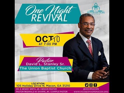 "Pastor Reginald Sharpe ""One Night Revival"" w/ Pastor David L. Stanley"