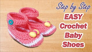 EASY Crochet Baby Shoes For Beginners Step by Step Tutorial Urdu Hindi