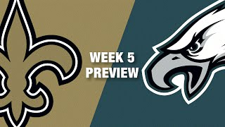 Saints vs. Eagles Preview (Week 5) | NFL
