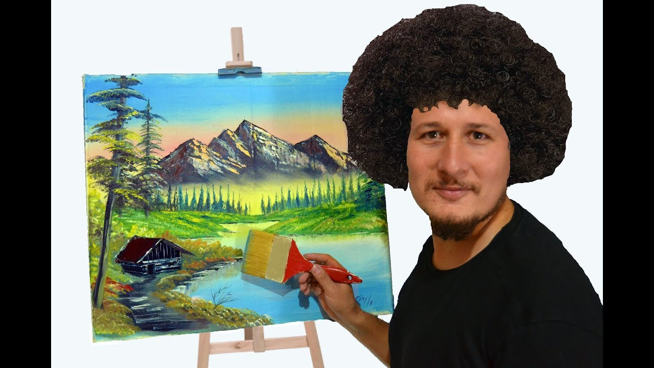 How To Oil Color Painting Tutorial Bob Ross Technic