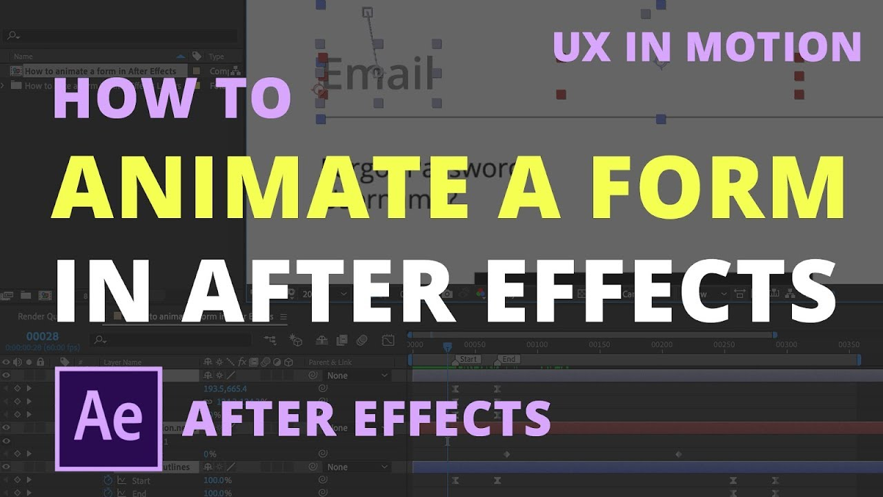 How to animate a form in After Effects