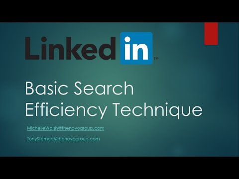 LinkedIn Basic Search Efficiency Overview for Recruitment
