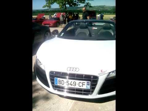 Trois Audi R8 !!!? ( V8 , V10 Spyder )