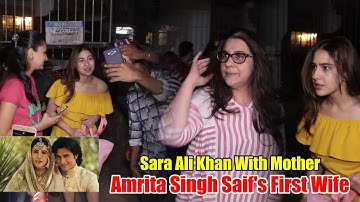 Sara Ali Khan Spotted With Mother Amrita Singh | Viralbollywood