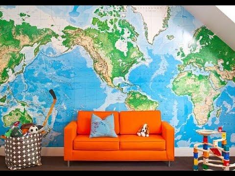 Новые идеи дизайна - Карты и глобусы в интерьере
