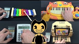 BENDY AND THE INK MACHINE BUILD OUR MACHINE PLAYED ON FUNNY INSTRUMENTS COMPILATION