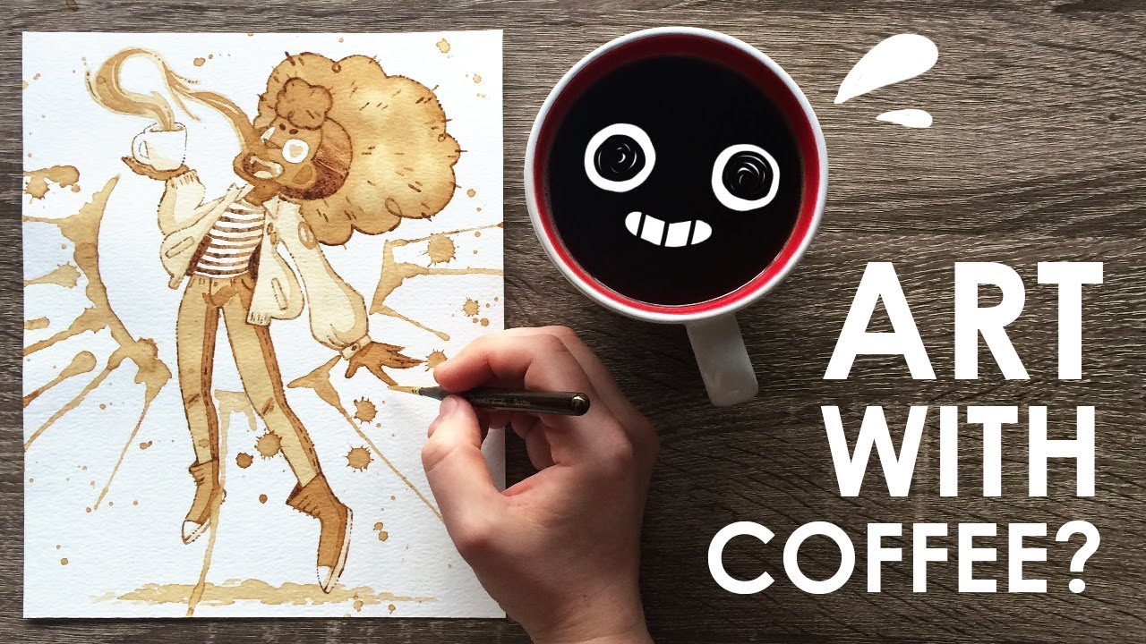 Painting with coffee youtube for Painting with coffee