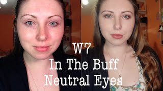 tutorial   neutral look ft w7 in the buff palette