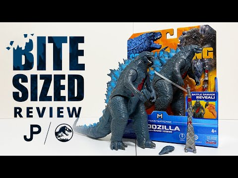 NEW Godzilla vs. Kong Toy Review - Godzilla with Radio Tower by Playmates Toys / collectjurassic.com