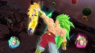 Dragon Ball Raging Blast 2:  SSJ3 Goku & SSJ3 Vegeta Vs SSJ3 Broly & Hatchiyack【60FPS 1080P】