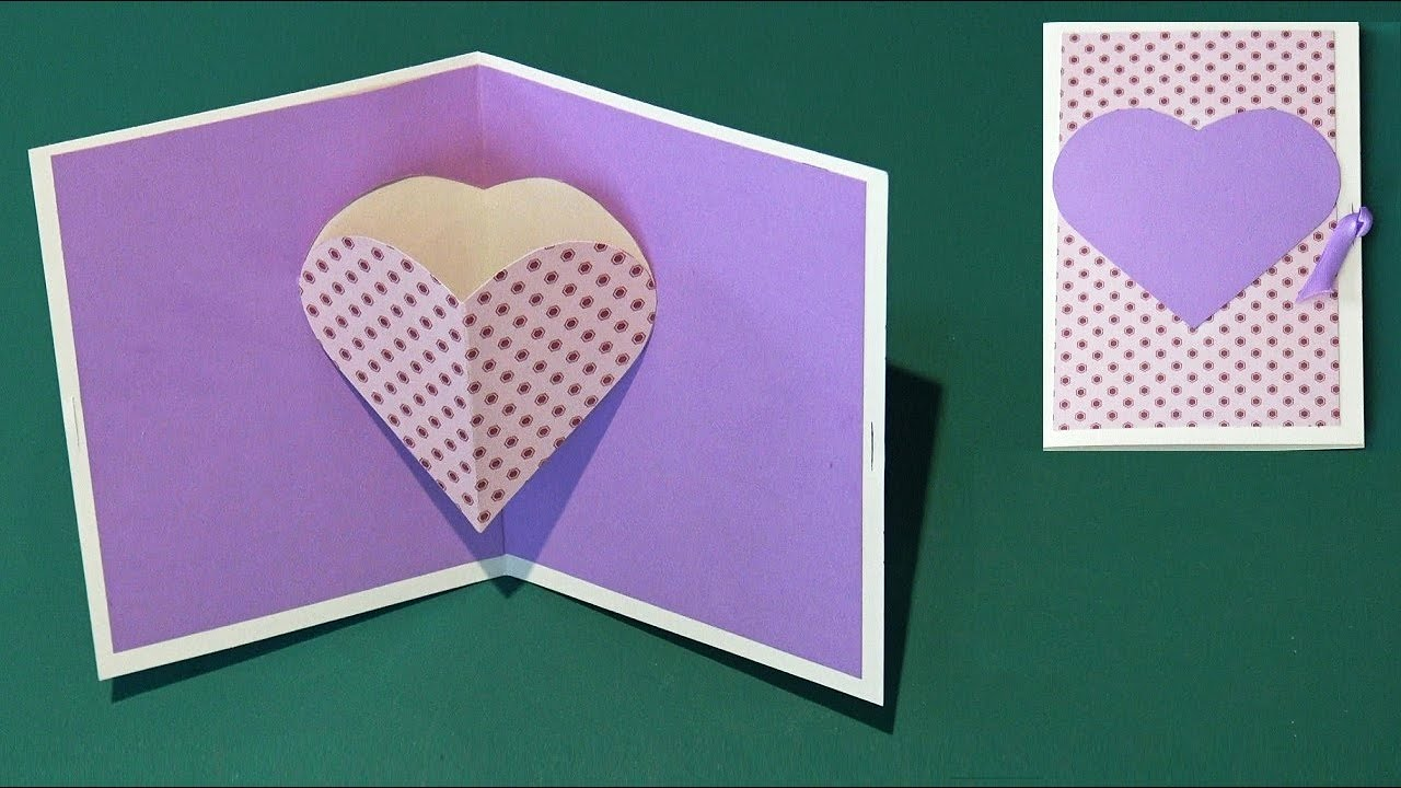 Diy carte pop up coeur facile youtube - Carte pop up facile ...