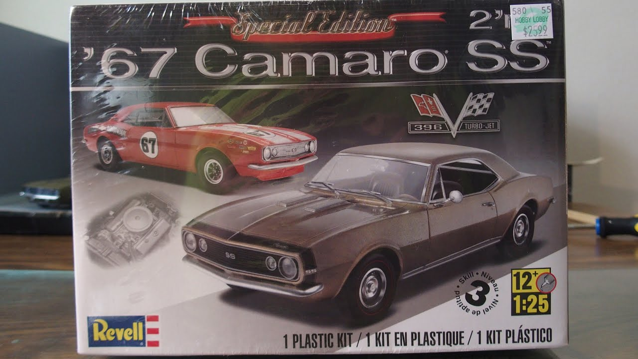 67 Camaro SS Revell model kit build and share - YouTube
