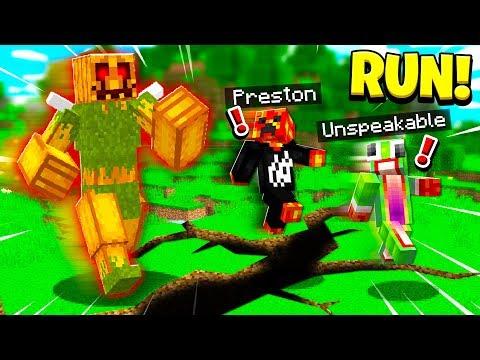 MINECRAFT RUN FROM THE PUMPKIN KING ESCAPE!
