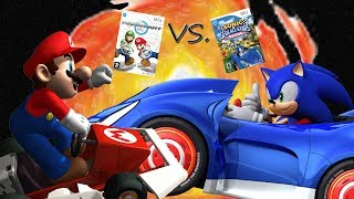 Mario Kart Wii vs. Sonic & SEGA All-Stars Racing - Mario vs. Sonic Ep 4
