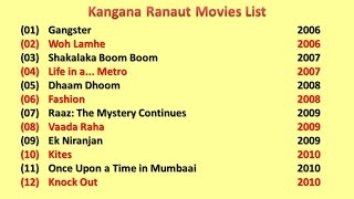 Kangana ranaut  movies list