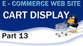 13. E - Commerce Website Tutorial - Tally the Total of Your PHP Shopping Cart