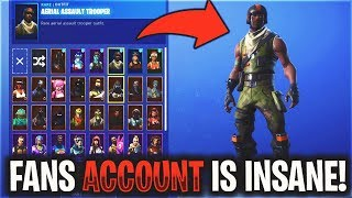 Reacting to FAN'S Fortnite Accounts (INSANE)