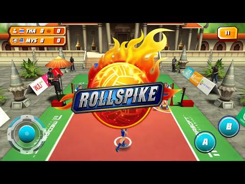 Roll Spike  เกมส์ตะกร้อ ทีมไทย VS มาเลเซีย ชนะ 3เซ็ตรวด