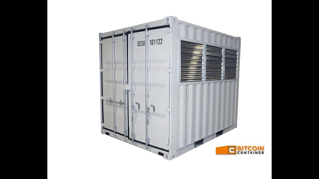 cryptocurrency mining container