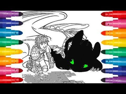 How To Train Your Dragon 3 Coloring Hiccup And Toothless Как приручить дракона 3 раскраска