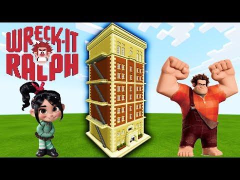 "Minecraft: How To Make Fix It Felix Junior Arcade building ""Wreck It Ralph 2"""